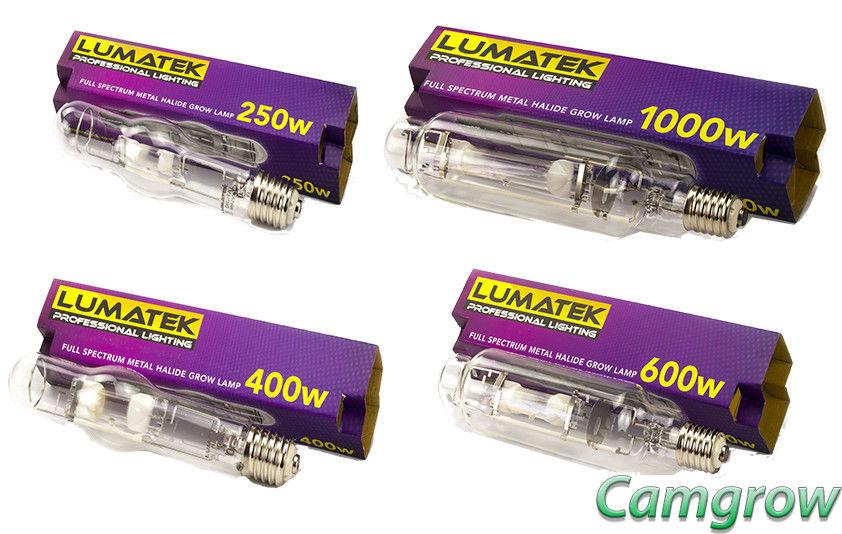 Lumatek – 250W – 400W – 600W – 1000W – 240V Metal Halide – Veg Bulb Hydroponics